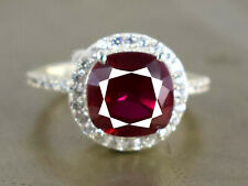 Cyber Monday Deal 5.95 Ct Natural Burma Ruby With Accents 925 Silver Ring