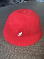 Nwt Kid's Sample Kangol Bermuda Casual Bucket Hat Red Sz M From 2016
