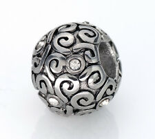 Stainless Steel European Spacer Beads Swirl Charm Fits European Charm Bracelets