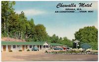 Linen Postcard Chewalla Motel in Eufaula, Alabama~107032