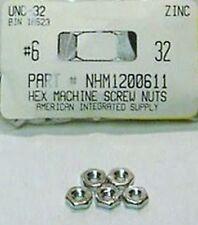 #6-32 Hex Machine Screw Nuts Steel Zinc Plated (200)