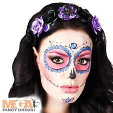 Day of the Dead Flower Costume Tiara Halloween Adults Ladies Womens Fancy Dress