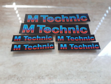 BMW E30 M technic BLACK Body Kit of 6  Decal E30 E24 E28 Original M tech 1 BIG