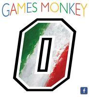 Adesivo Numero da 0 a 9 - BANDIERA ITALIANA - Auto Moto Motocross Bici Mtb Gara