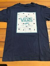 Vans New Print Box Kids Short Sleeve T-Shirt Boy's Youth 5/M Dress Blues