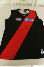 ESSENDON - JAMES HIRD HAND SIGNED HOME JERSEY UNFRAMED + PHOTO PROOF & C.O.A