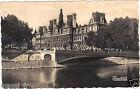 75 - cpsm - PARIS - L'Hôtel de Ville et le pont d'Arcole