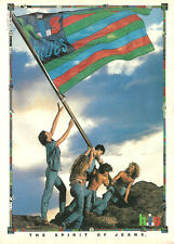 1990 magazine Ad, H.I.S. Jeans, Spirit of Jeans, Raising Flag Iwo Jima  120813