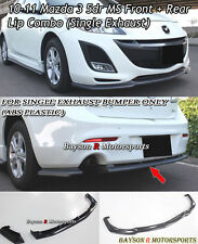 MS-Style Front Lip + MS-Style Rear Lip (Single Exhaust) Fits 10-11 Mazda 3 5dr