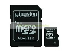 Kingston Micro SD HC 32GB 32G Class 4 C4 Flash Memory Card with Adapter New