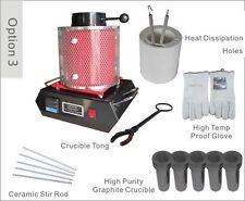 Automatic Digital Melting Furnace 3KG for Melt Scrap Silver & Gold MF-3000 Three