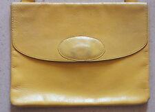 sac jaune Sonia Rykiel vintage handbag pochette