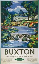 Vintage Transport Railway Rail Travel Advertising Poster RE PRINT Buxton
