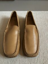 TOD'S womens Tan Leather Shoes - Eur37