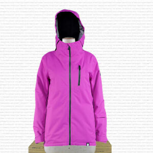 Ride Medina Snowboard Jacket Womens Medium Raspberry Sherbet Twill