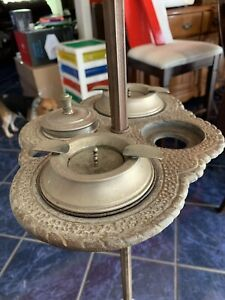 Antique Torchiere Art Deco Smoking Stand Floor Lamp ((Works))