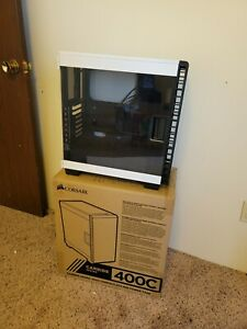 Corsair Carbide 400C Compact Mid-Tower White desktop pc gaming case