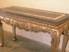 Casa Bique Silver Gilt Sofa Table and Side Table