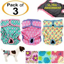 LOT of 3pcs Dog Diaper Female Cat Washable LEAK PROOF Waterproof Small Large Pet