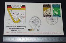 ENVELOPPE 1er JOUR PHILATELIE 1969 MÜNCHEN 1972 JEUX OLYMPIQUES OLYMPIA