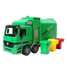 1:22 Die Cast Pull Back Sanitation Garbage Truck Model Kids Toy Gift
