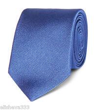 Dolce & Gabbana Dark Royal Blue 100% Silk Tie Made in Italy Italian
