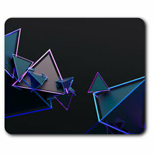 Computer Mouse Mat - 3D Triangle Abstract Shape Office Gift #2782