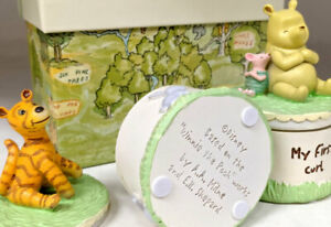 Winnie The Pooh First Tooth First Curl Box Newborn Christening Baby Shower Gift