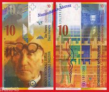 SUIZA SWITZERLAND SUISSE 10 Francs franchi 2013 Pick 67e  SC /  UNC