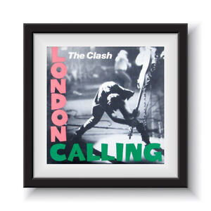 """The Clash - London Calling    12"""" Album Cover - Framed 16"""" x 16"""""""