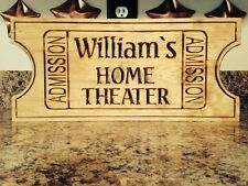 Home Theater Decor Movie Room Personalized Cinema Poster Ticket Basement Wall
