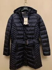 Barbour Women's Braemer Long Fibre Down Jacket, Navy 14, New With Tag's RRP £190