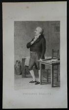 """n°82 Gravure ancienne 1850 Personnage célèbre / historique """" Philippe Egalité """""""