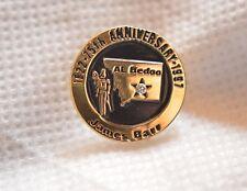 """AL BEDOO SHRINE AUDITORIUM BILLINGS MONTANA 75TH ANNIV 1997 3/4"""" METAL LAPEL PIN"""