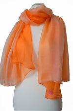 XXL Schal aus reiner Seiden-Chiffon, mit Farbverlauf, 100%Seide, 140x180cm