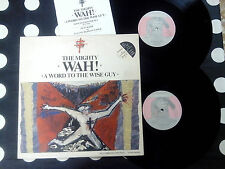 "The Mighty Wah! ""A Word To The Wise Guy"" LP+12"" BEGGARS BANQUET UK 1984 BOOKLET"