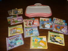 LEAP FROG LITTLE TOUCH LEAP PAD PINK W 10 BOOKS CARTRIDGES