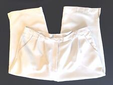 AW ALLYSON WHITMORE GOLF WOMEN'S PANTS SIZE 14 WHITE POLYESTER CROPPED