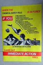 ADF Chemical Weapon CW Safety Rule Warning When Under Attack Fire POSTER