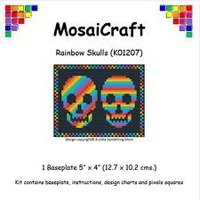 MosaiCraft Pixel Craft Mosaic Art Kit 'Rainbow Skulls' Halloween Pixelhobby