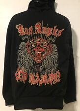 Ed Hardy  Youth Los Angeles Zip Front Black Hoodie w/Tiger Theme - 2XL**, EUC