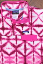 Patagonia Synchilla Snap-T Pullover Jacket Pink Tie Dye Women's XL