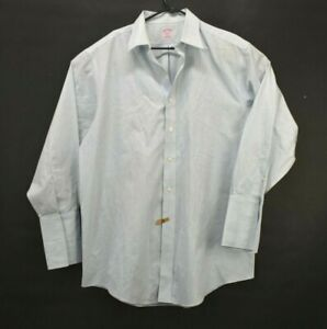 Brooks Brothers Men's 16 1/2 32 Checked All Cotton Button Up Dress Shirt