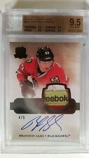 2011-12 The Cup Brandon Saad 4 Color Black RC Patch Auto 4/5 BGS 9.5 / 10 Auto