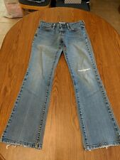 LEVI'S 545 Womens Low Boot Cut Blue Denim Medium Wash Jeans Size 4 Medium