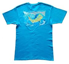 Guy Harvey Mens Predators S/S Tee Shirt, Turquoise, Large .... NWT