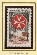 STAMP / TIMBRE FRANCE OBLITERE N° 1062 ORDRE DE MALTE LEPROSERIE EN A.E.F.
