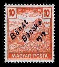 1919 HUNGARY #10N22 BANAT BACSKA TYPE A MAGYAR POSTA - OGH - VF - CV$30(E#9887)