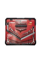 HUSKY SAE/MM Ratcheting Wrench Set with Stubby (30-Piece)