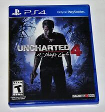 Replacement Case (NO GAME) Uncharted 4 A Thief's End Playstation 4 Original Box